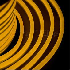 Гибкий Неон LED - желтый, оболочка желтая, бухта 50м
