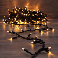 Гирлянда «Кластер» 10 м, 200 LED, черный каучук, IP67, соединяемая, цвет свечения теплый белый NEON-NIGHT