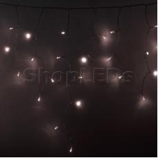 Гирлянда Айсикл (бахрома) светодиодный, 4,8 х 0,6 м, прозрачный провод, диоды ТЕПЛО-БЕЛЫЕ, 176 диодов