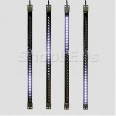 Сосулька светодиодная 50 см, 9,5V, двухсторонняя, 32х2 светодиодов, пластиковый корпус черного цвета, цвет светодиодов белый