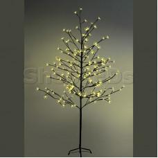 """Дерево комнатное """"Сакура"""", коричневый цвет ствола и веток, высота 1.5 метра, 120 светодиодов желтого цвета, трансформатор IP44 NEON-NIGHT"""
