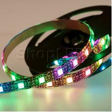 LED лента с USB коннектором 5 В, 10 мм, IP65, SMD 5050, 60 LED/m, цвет свечения RGB