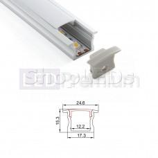 Встраиваемый алюминиевый профиль SLA-15 [25x14.3mm]