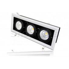 Карданный светильник B-LP111-3 (220V, 3*25W, черно-белый) (дневной белый 4000K)