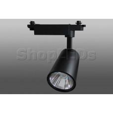 Трековый светодиодный светильник DT-106 (20W, 4100K, однофазный, черный корпус)