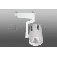 Трековый светодиодный светильник DT-141 (30W, 4100K, однофазный, белый корпус)